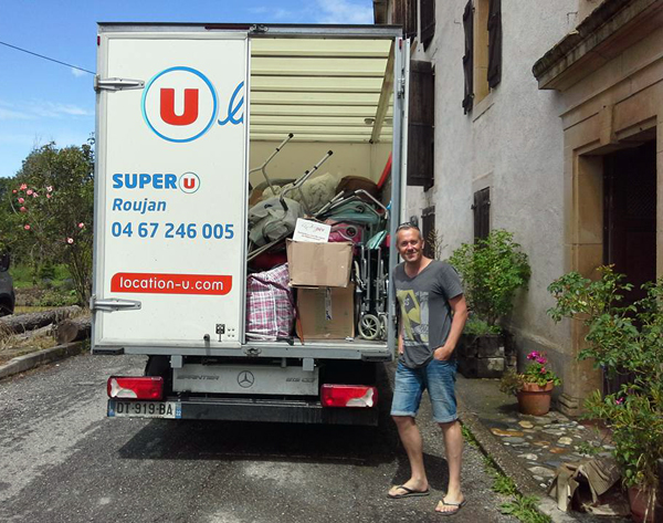 Joel ready to make delivery of medical supplies
