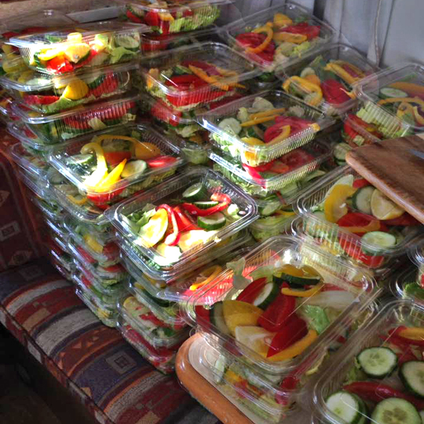 Salads ready to go