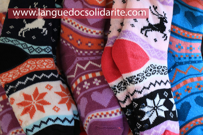 Socks for refugees